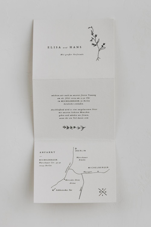 Einladungskarte Im Zick Zack Falz Greta Traumanufaktur Letterpress Studio Hochzeitspapeterie Hochz Einladungskarten Hochzeit Antwortkarten Einladungen