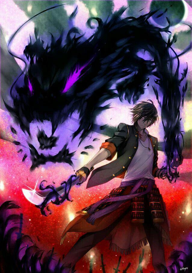 Mc with dark power Anime demon, Touken ranbu, Anime fight