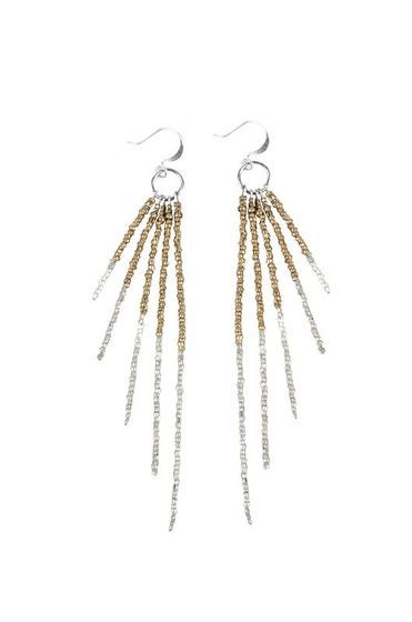 Tiffany Kunz: Fringe Fade Collection Earrings in Copper or Gold