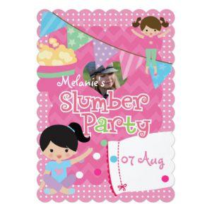 "Personalized Girl's Slumber Birthday Party 5x7 Paper Invitation Card (<em data-recalc-dims=""1"">$2.41</em>)"