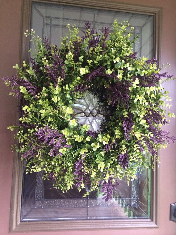 Items Similar To Spring Wreath Eucalyptus Boxwood Greenery Front Door On Etsy