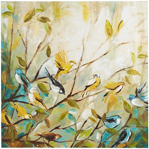 Pier 1 Imports Multi-colored Returning Home Bird Art ($159) ❤ liked ...