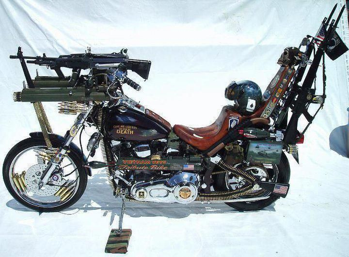 Wow Guns And Every Thing On This Bike This Is So Crazy But Very Cool Concept Motorcycles Motorcycle Vehicles