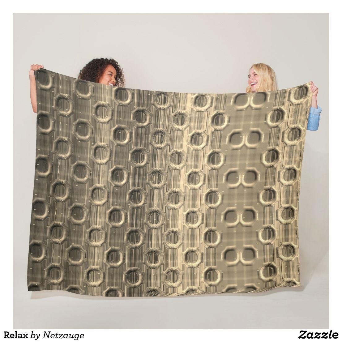 Relax Fleecedecke Zazzle De Decke Wandteppich Kuscheldecke