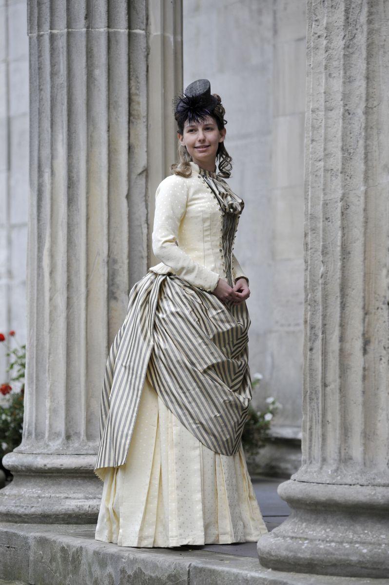 6946d04ffab 1880s bustle dress