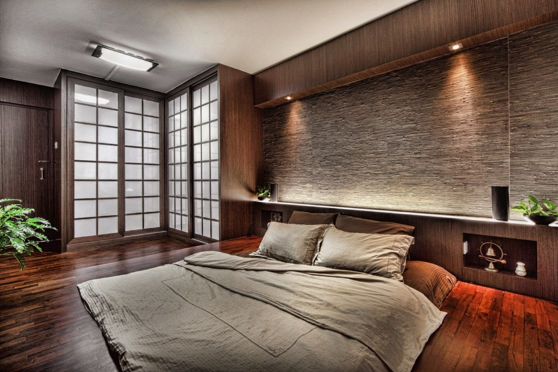 The master bedroom is a monument to contemporary taste and ...