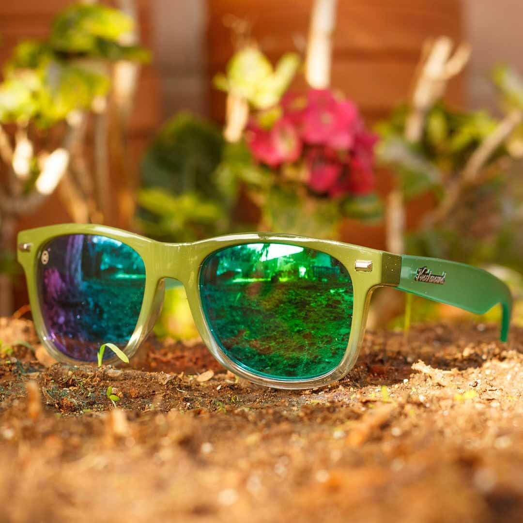 f86cda58ddcc CUSTOM Fort Knocks sunglasses featuring dark olive ice fronts ...