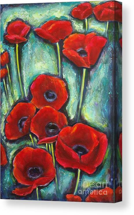 Pauline S Poppies Canvas Print Canvas Art By Sheila Diemert Flower Art Painting Flower Art Folk Art Flowers