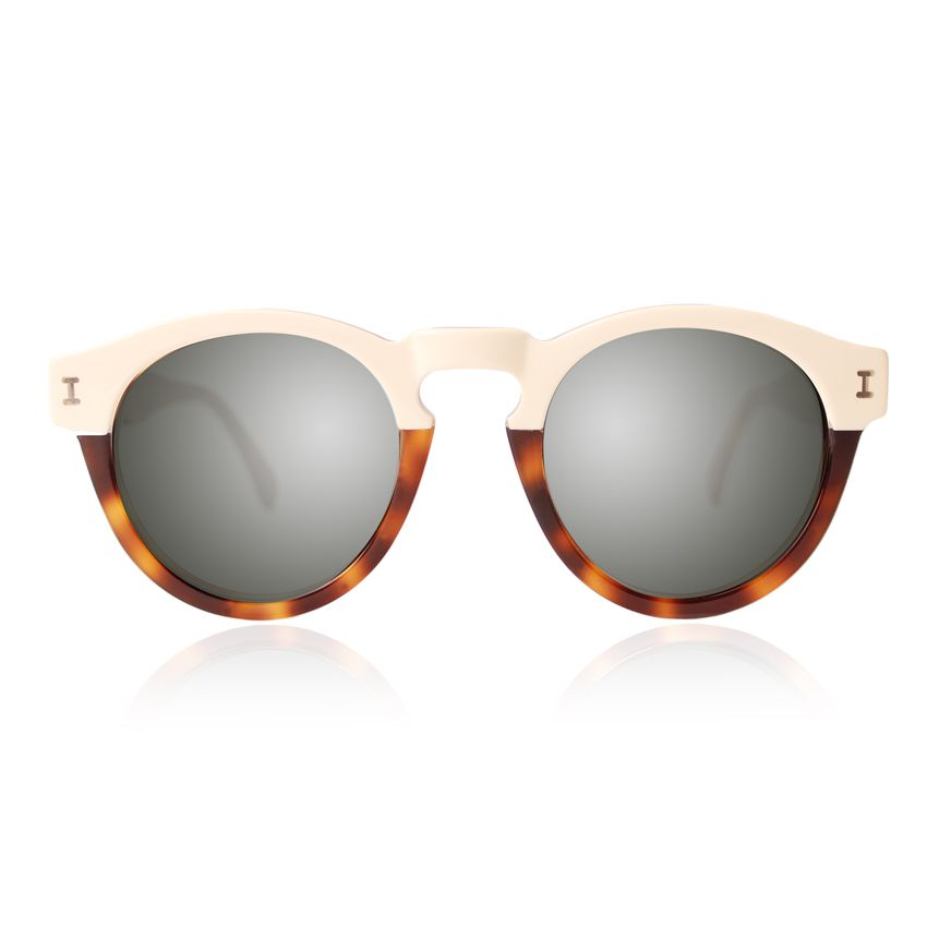 af097b82a6 Leonard Half Half Cream with Silver Mirrored Lenses