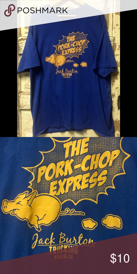 Jack Burton Pork Chop Express Classic Vintage Movie And T Shirt From Big Trouble In Little China Jack Burton Trucking Pork Chop Express Jack Burton Tee Shirts