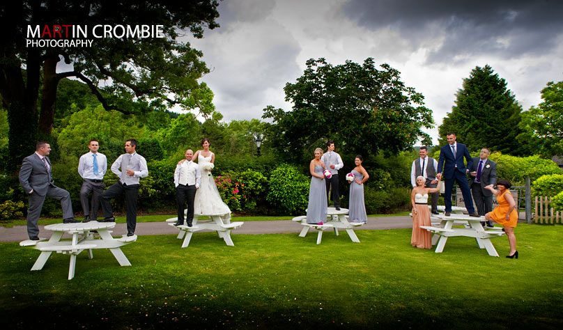 Quirky wedding shot