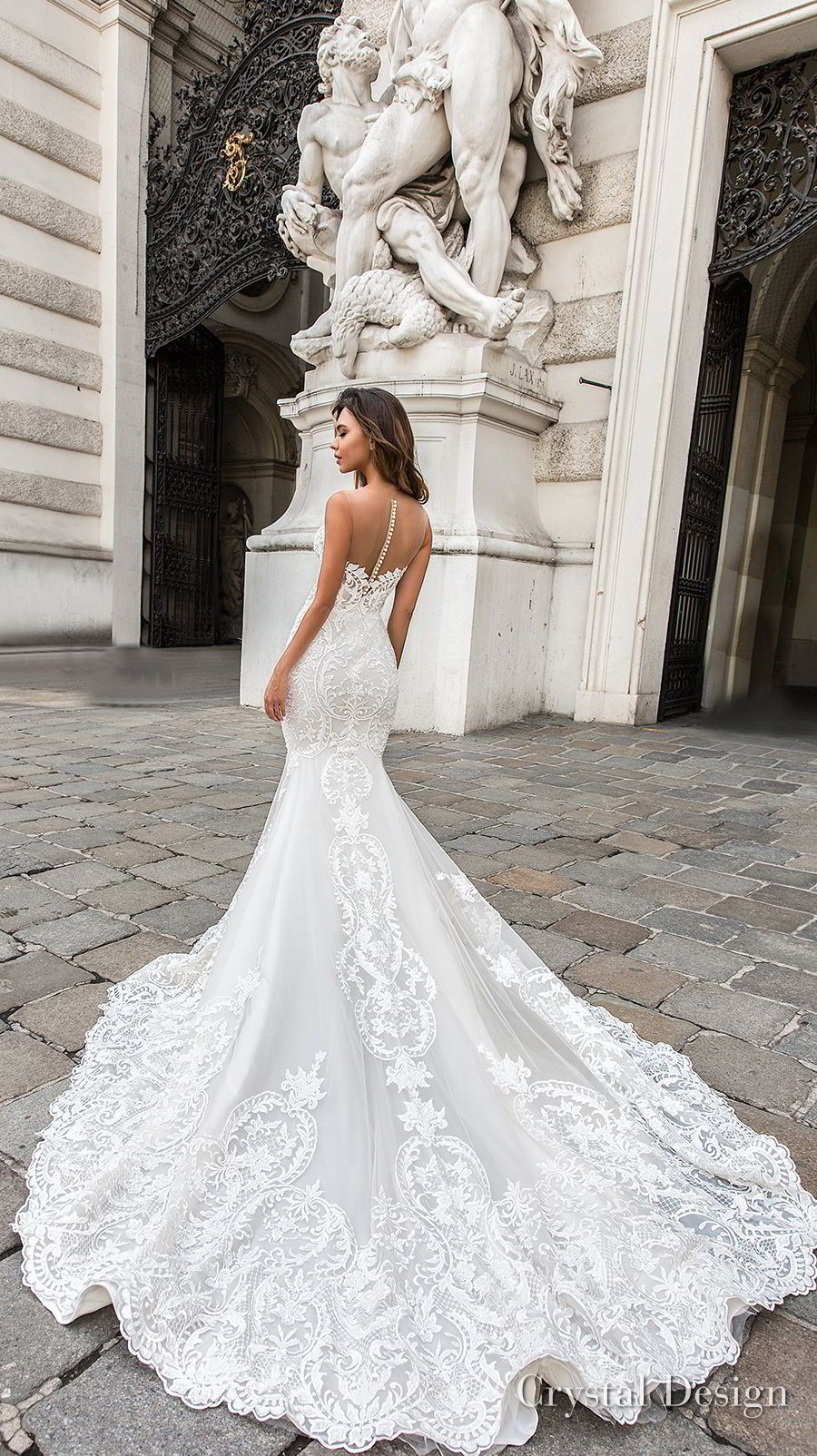 Crystal Design 2018 Wedding Dresses Royal Garden Haute Couture Bridal Collections Wedding Inspirasi Wedding Dresses Sheer Wedding Dress Designer Wedding Dresses [ 1604 x 900 Pixel ]