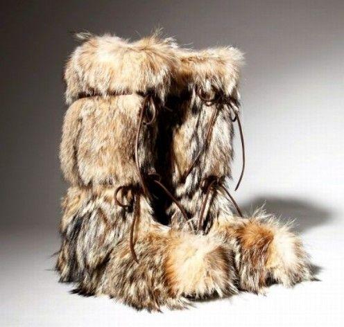 Womens fur mukluk boots