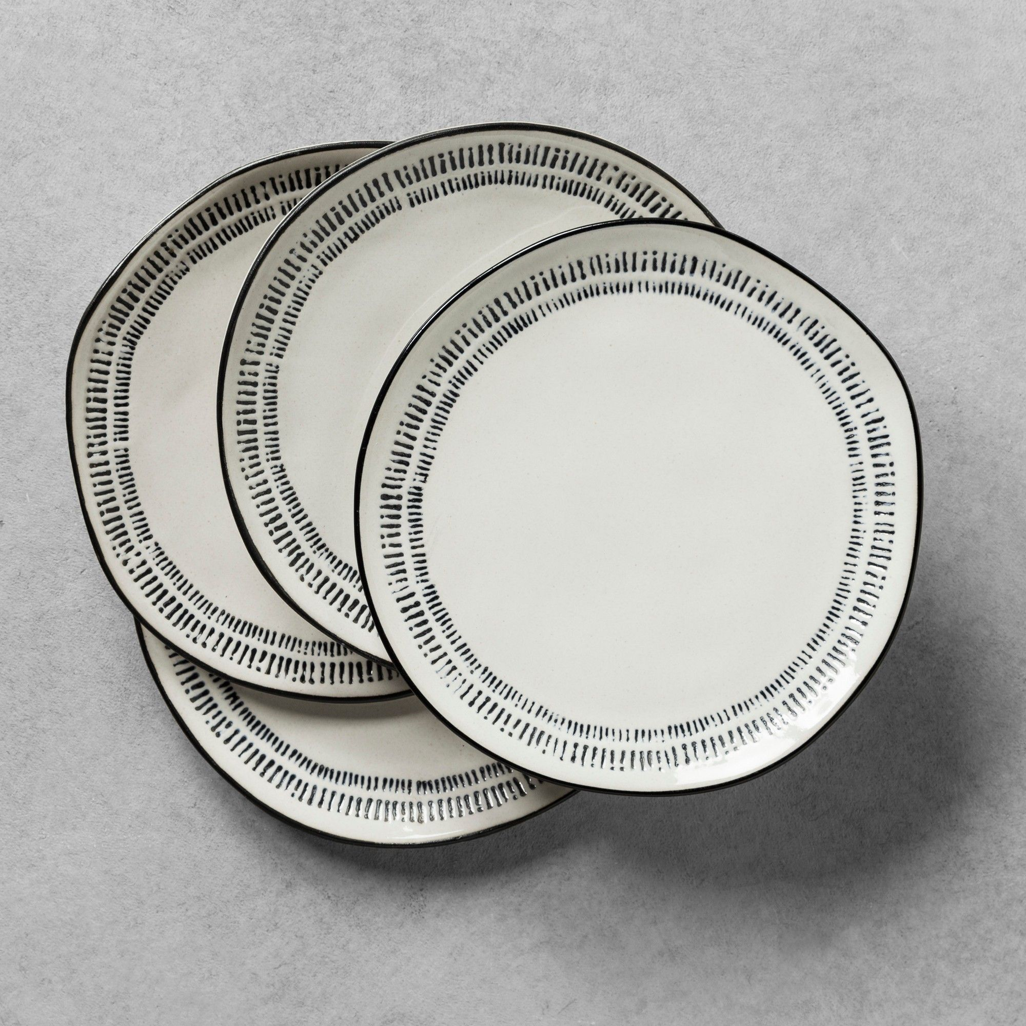 Details about  /NEW Hearth /& Hand with Magnolia WHITE PACK F 4 Stoneware Salad Plates