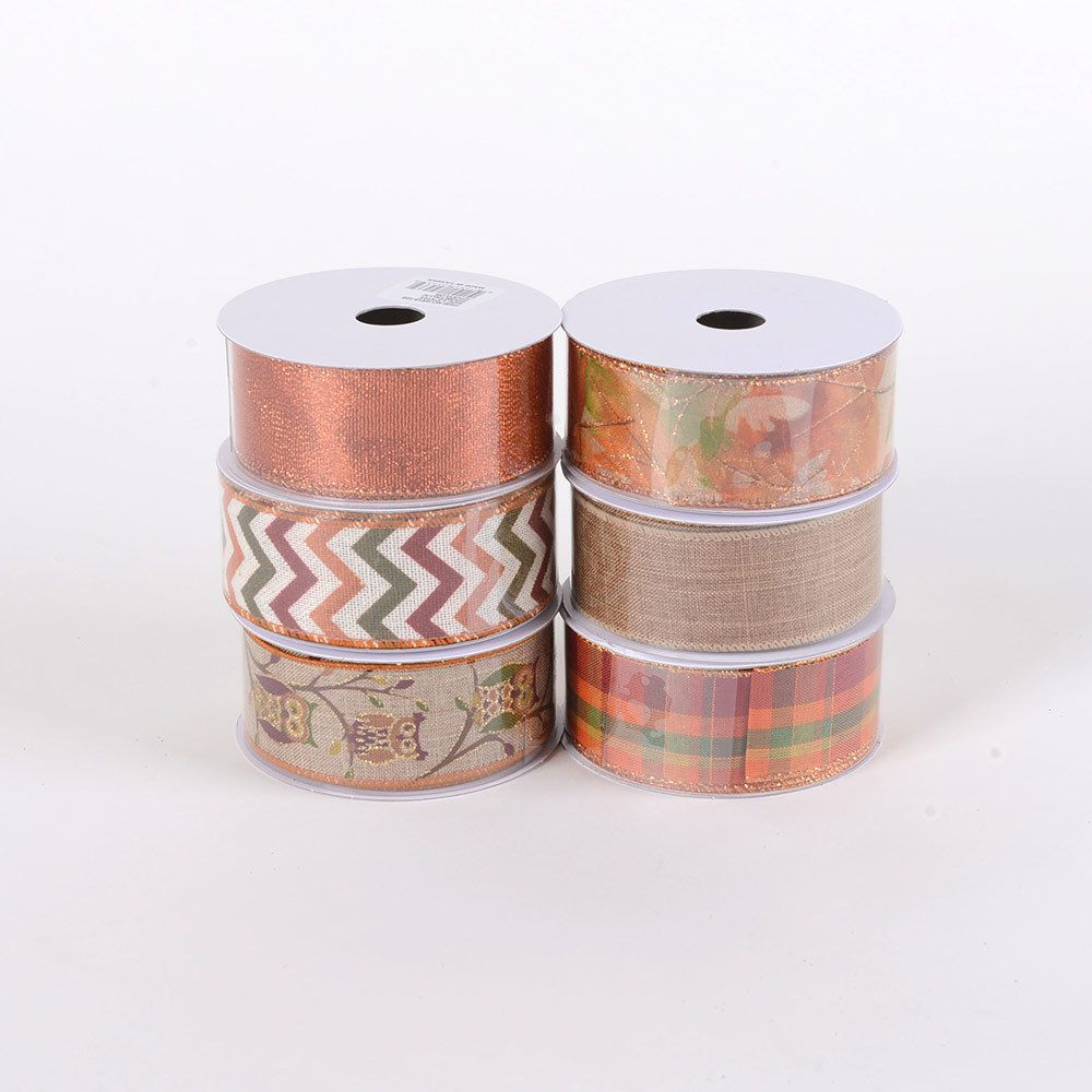 Mackenzie Childs ORCHARD CHECK 4 INCH x 10 YARDS Wire Edge RIBBON SPOOL NEW $68