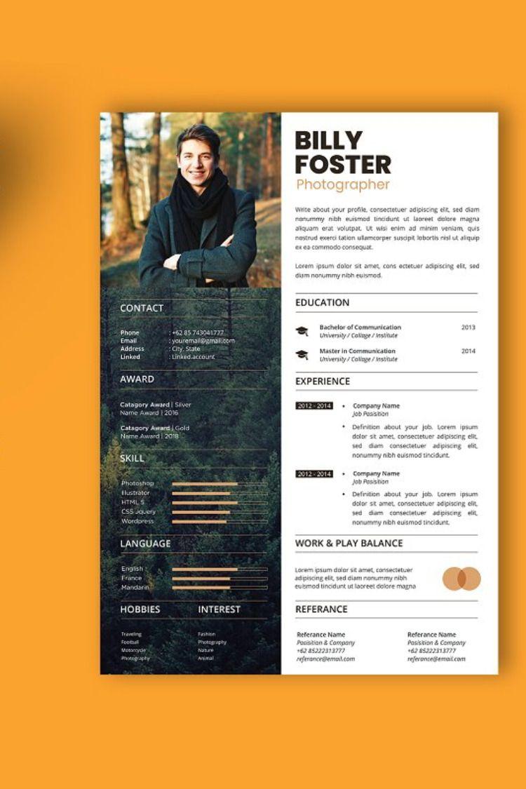 Professional Cv And Resume Template Cv Kreatif Desain Cv Desain Resume