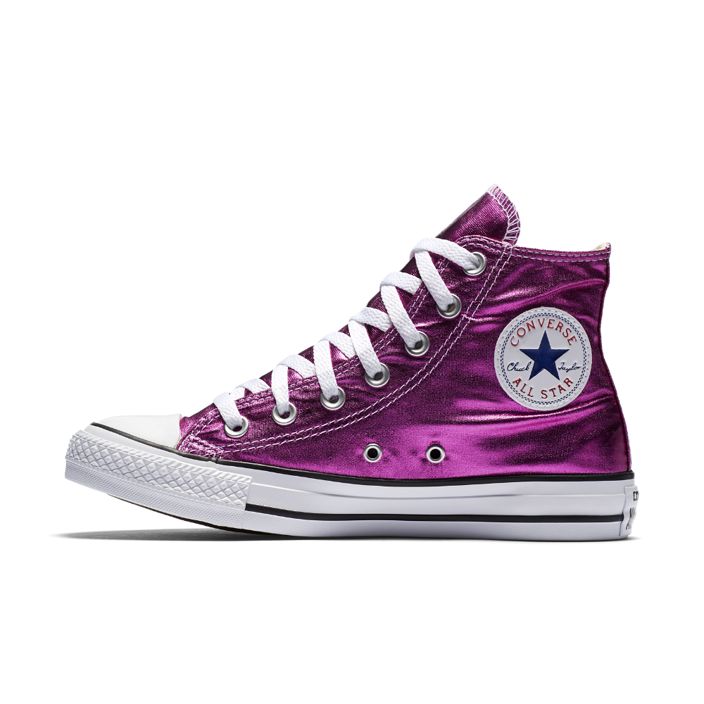 52028752e1928f Converse Chuck Taylor All Star Metallic High Top Shoe Size 11.5 (Pink)
