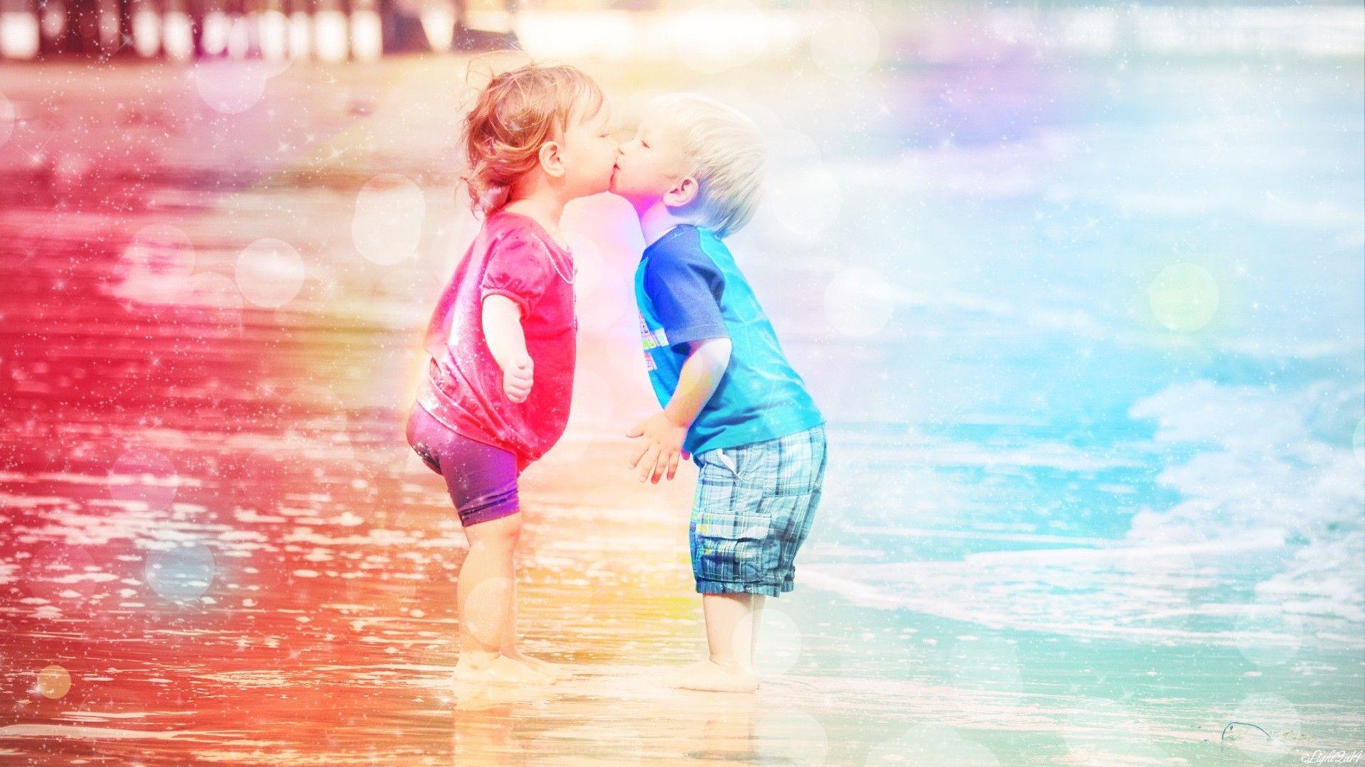 Hd wallpaper kiss - Beutifull Cute Hd Wallpapers Baby Kiss Desktop Dounlod Full Hd 1920 1200 Baby Kiss Images