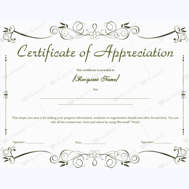 Certificate Of Appreciation 04