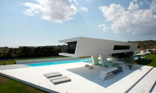 Bioclimatic Design Of The Unique H3 House In Greece Futuristic - küchen luxus design