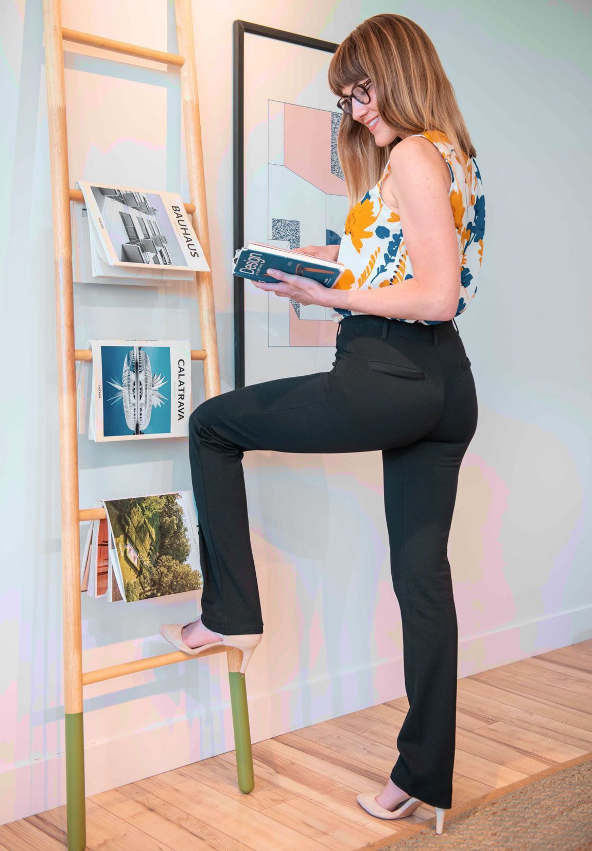 Straight Leg Classic Dress Pant Yoga Pants Black Dress Yoga Pants Yoga Dress Pants [ 1653 x 1150 Pixel ]