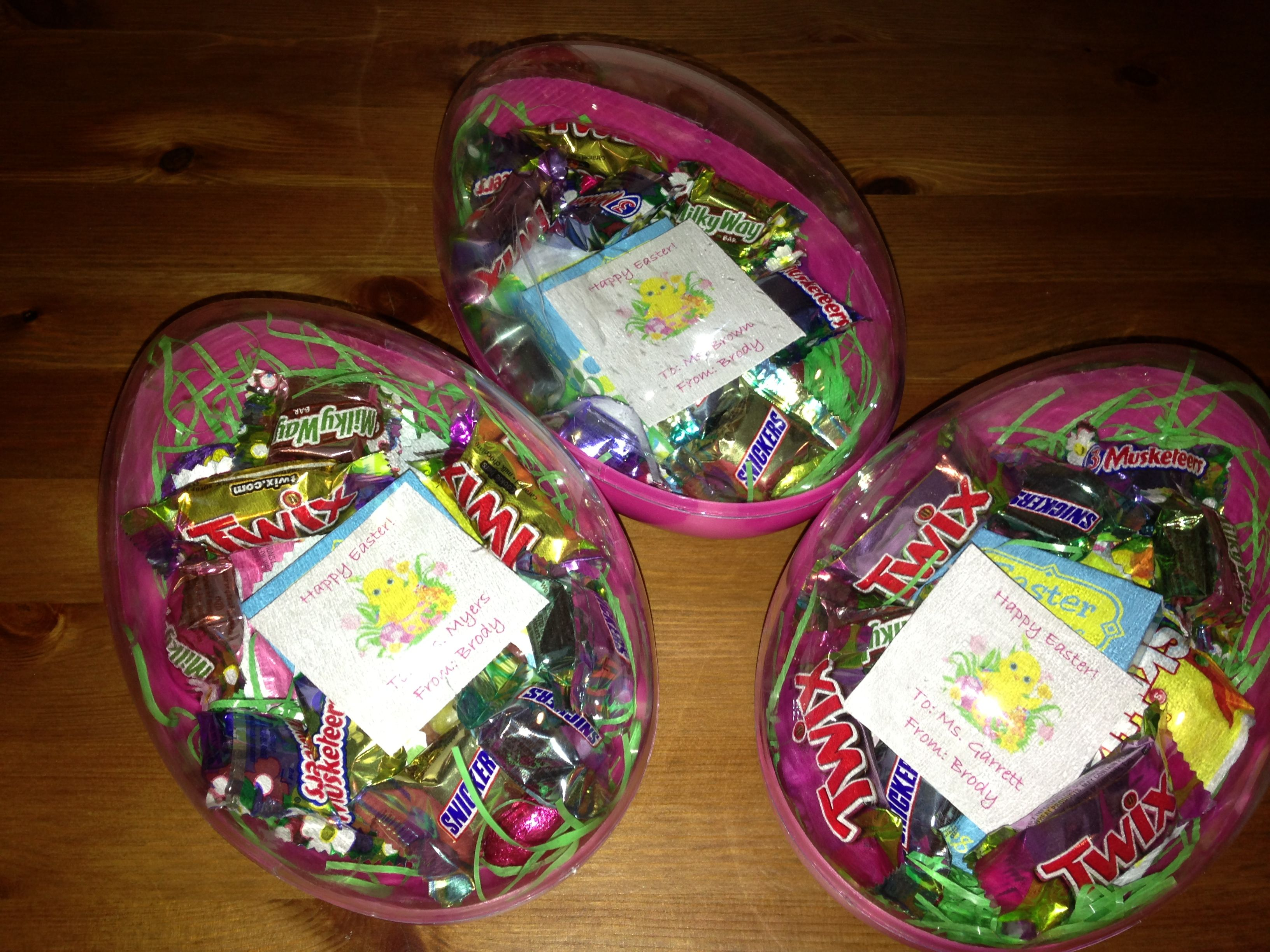 Easter gifts for teachers plastic eggs filled with candy my easter gifts for teachers plastic eggs filled with candy negle Images