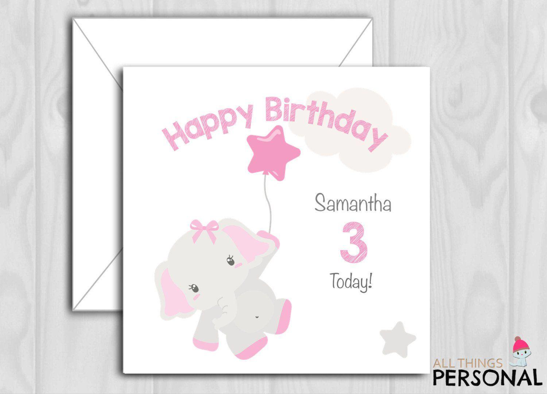 Personalised Birthday Card Daughter Granddaughter Niece Girl Children kids