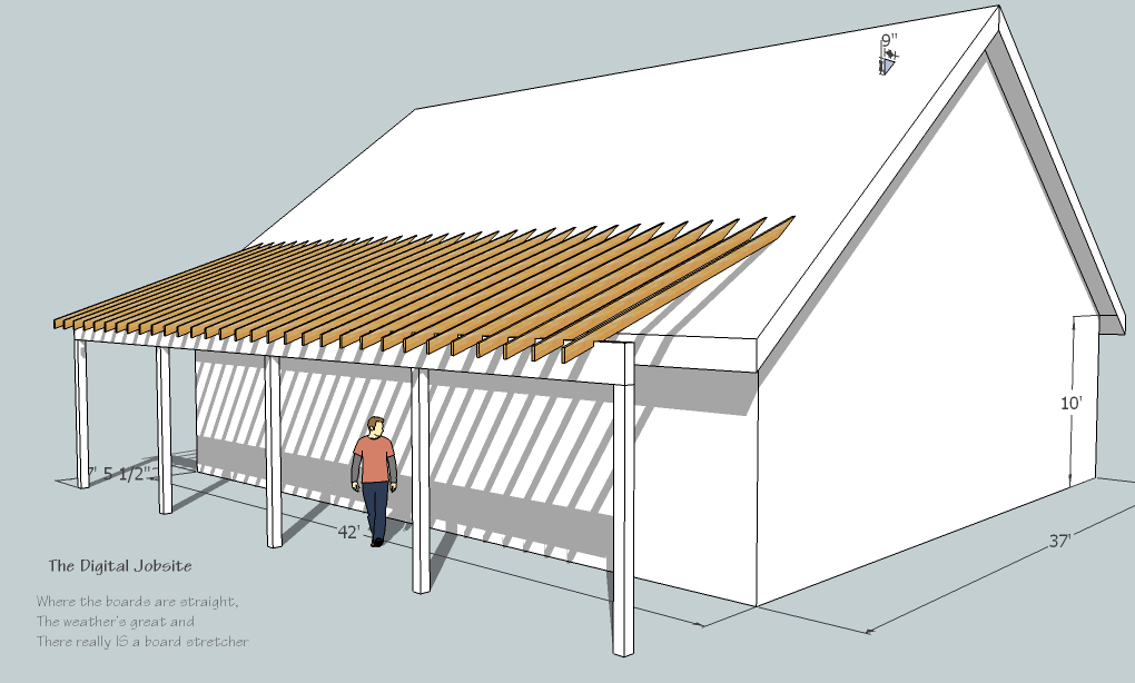 Shed Roof Deck   Decks., Learn Build Shed Style Porch Roof Deck .