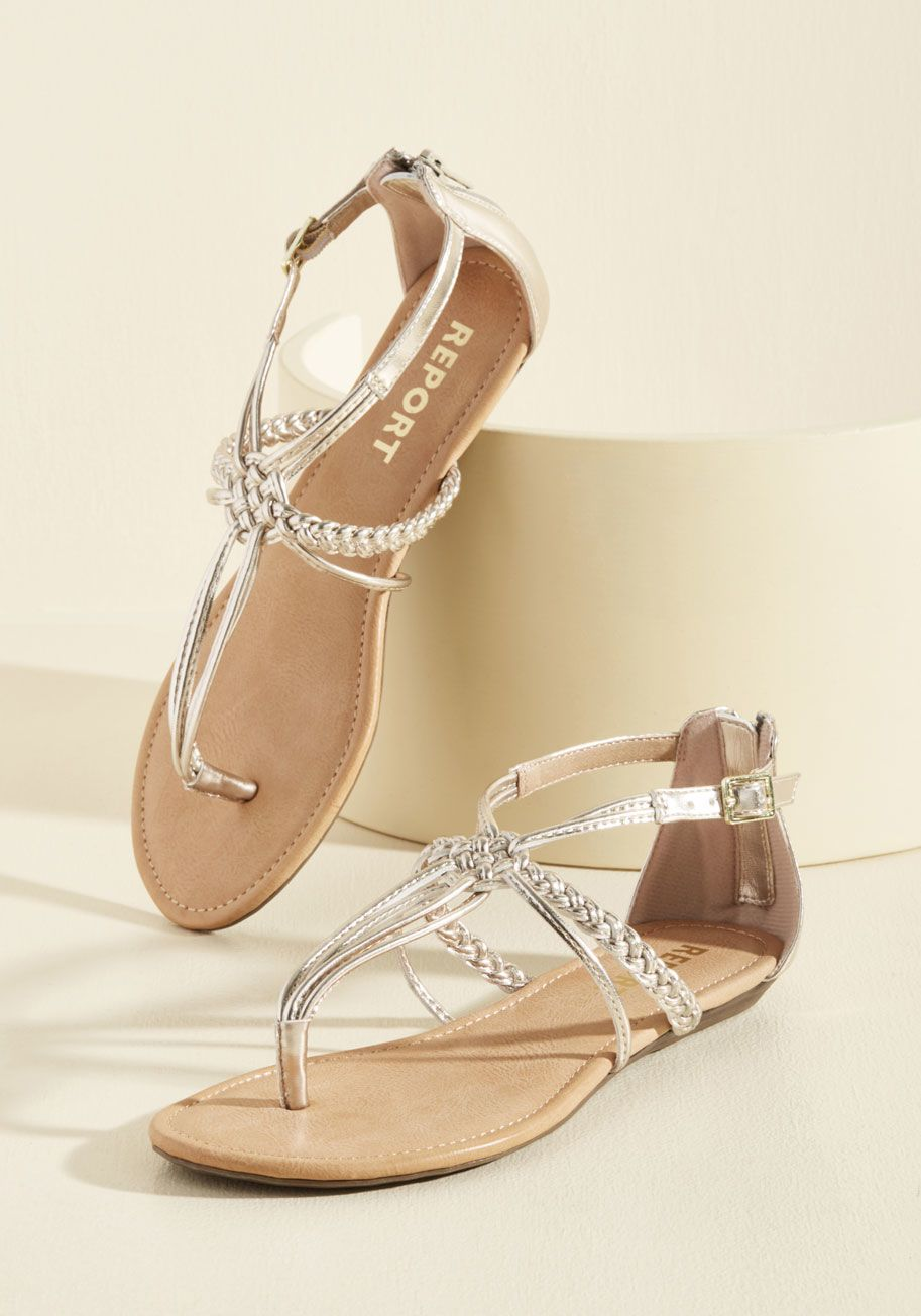24081339da0a Knotty or Nice T-Strap Sandal in Champagne in 6 - Superbly sweet with a  hint of sass - that s how you like your footwear