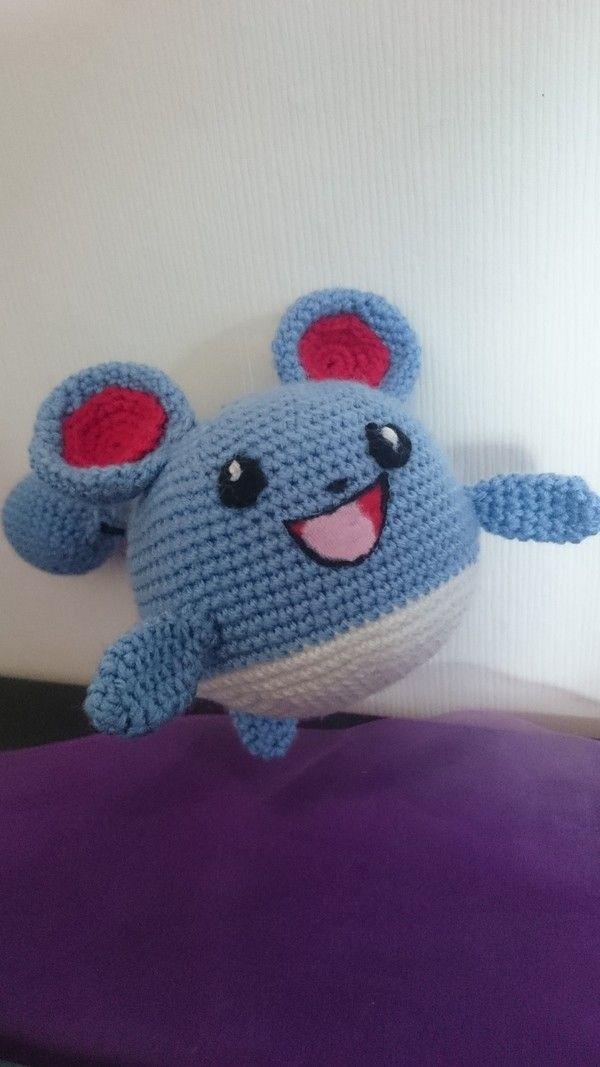 Anleitung Marill (Pokemon) | Häkeln | Pinterest | Mäuse, Schreiben ...