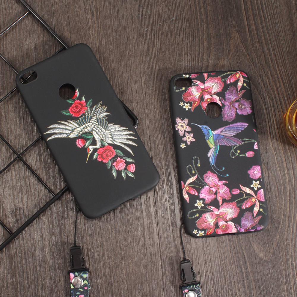 For Coque HUAWEI Nova 2 Plus Case Silicone Super 3D Relief Rose ...