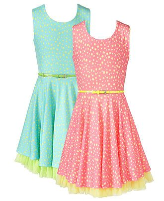 Beautees Kids Dress, Girls Polka Dot Dress