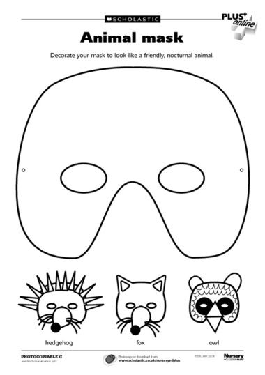 A mask template and ideas for decoration to help you make