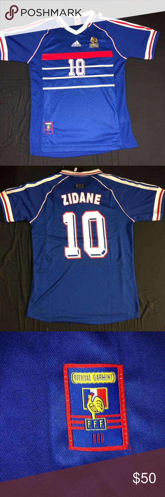 France 98 Jersey Zidane Nwt Jersey Adidas Shirt Clothes Design