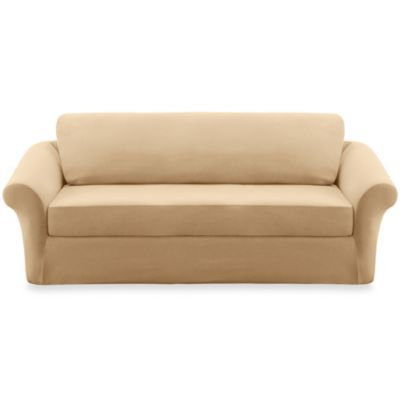 Sure Fit Stretch Sterling Cream 3 Piece Sofa Slipcover