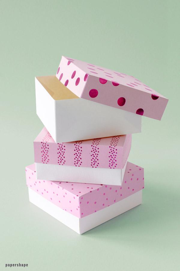 Stabile Geschenkbox Basteln Vorlage Geschenkbox