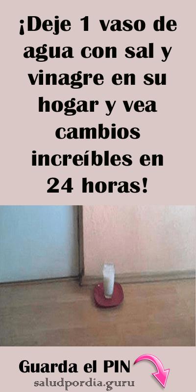 Deje 1 Vaso De Agua Con Sal Y Vinagre En Su Hogar Y Vea Cambios Increíbles En 24 Horas Salud Por Día Consejos De Limpieza Limpiar Los Quemadores De La