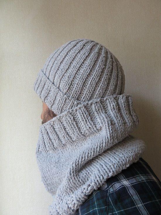tricot ensemble homme bonnet snood allmad e here tricote pinterest charpe tube. Black Bedroom Furniture Sets. Home Design Ideas