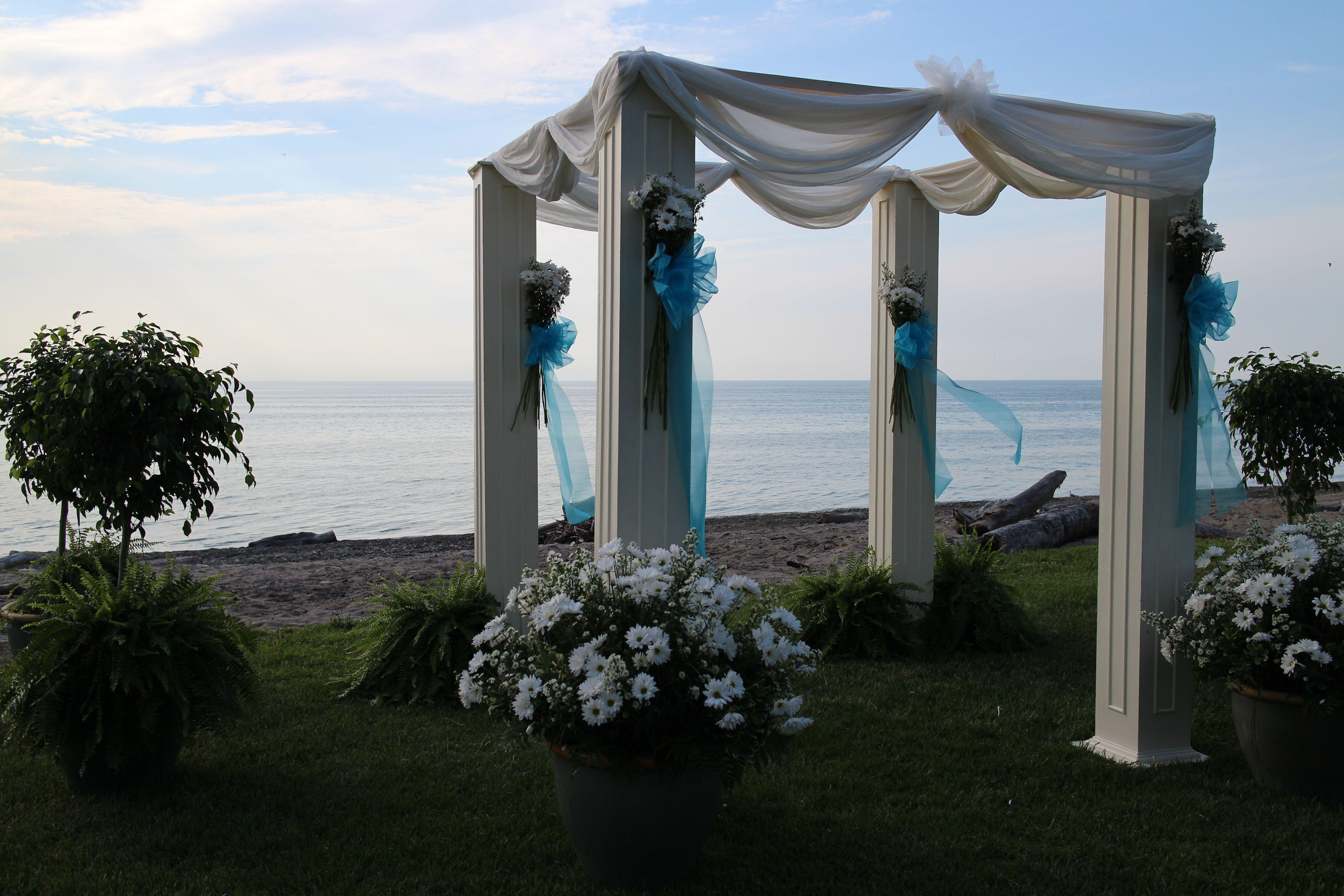 Beach wedding arbor wedding ideas pinterest beach wedding do it yourself wedding arbor bing images solutioingenieria Images