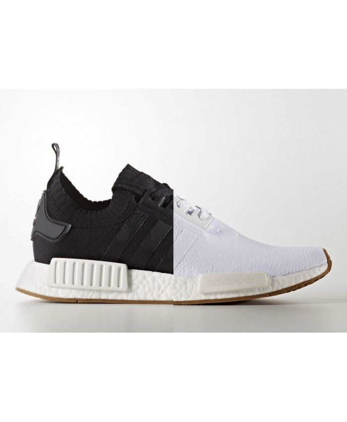 Adidas NMD R1 Gum Pack White Black Primeknit Shoes The pursuit of  excellence Adidas latest style