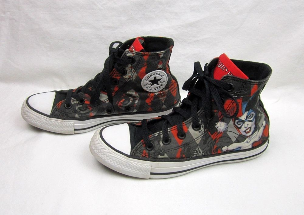 cb07c03a729d Harley Quinn Batman Chuck Taylor High Top Sneakers Converse All Star M 4 W 6   Converse  HighTopSneaker