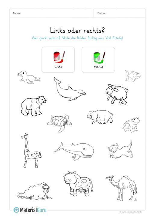 Ein kostenloses Arbeitsblatt für die Vorschule auf dem die Kinder nach links g #winterkleuters