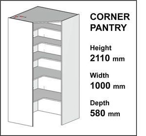 corner pantry cabinet dimensions | 1000 in 2020 | Kitchen ...