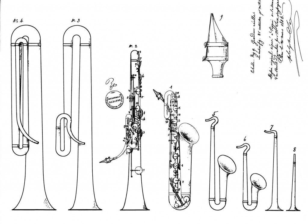 Устройство саксофона в картинках