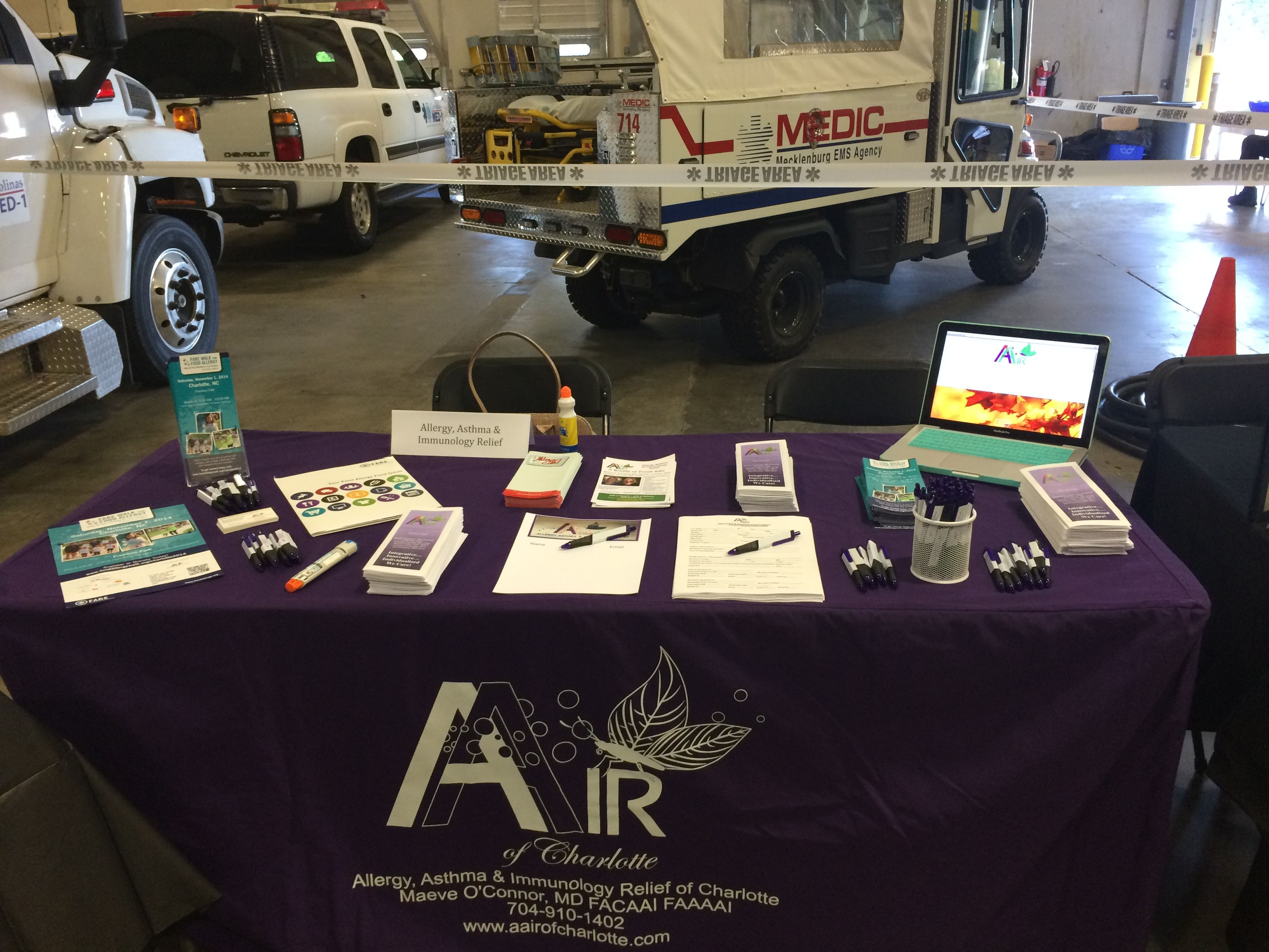 Aair Table At The Medic Health Fair October 2017