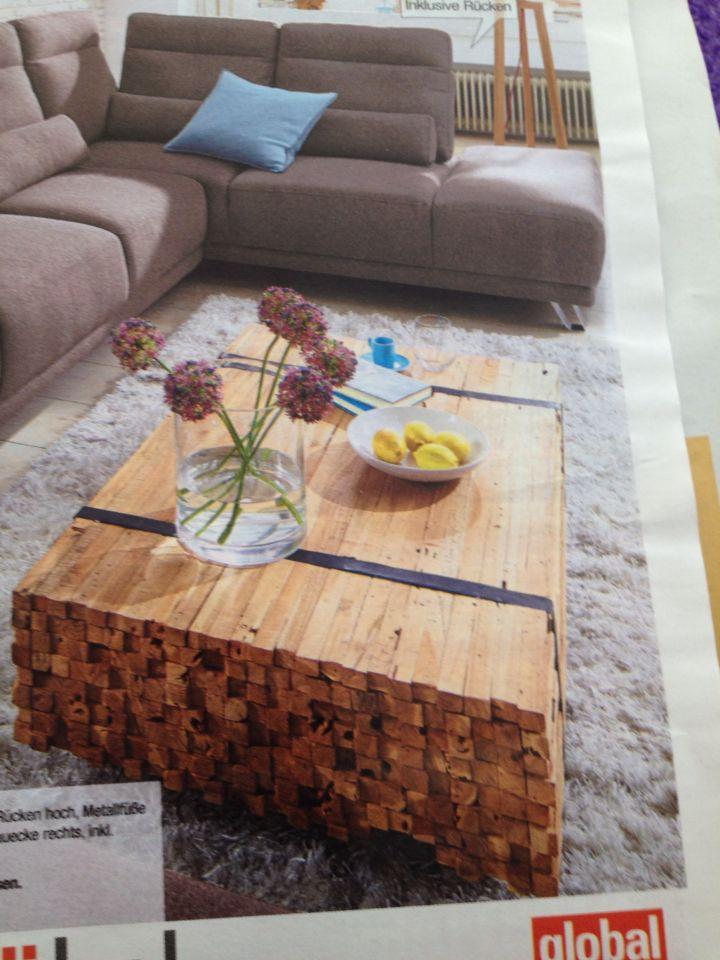 Tolle Tischidee Wohnzimmer Holztisch