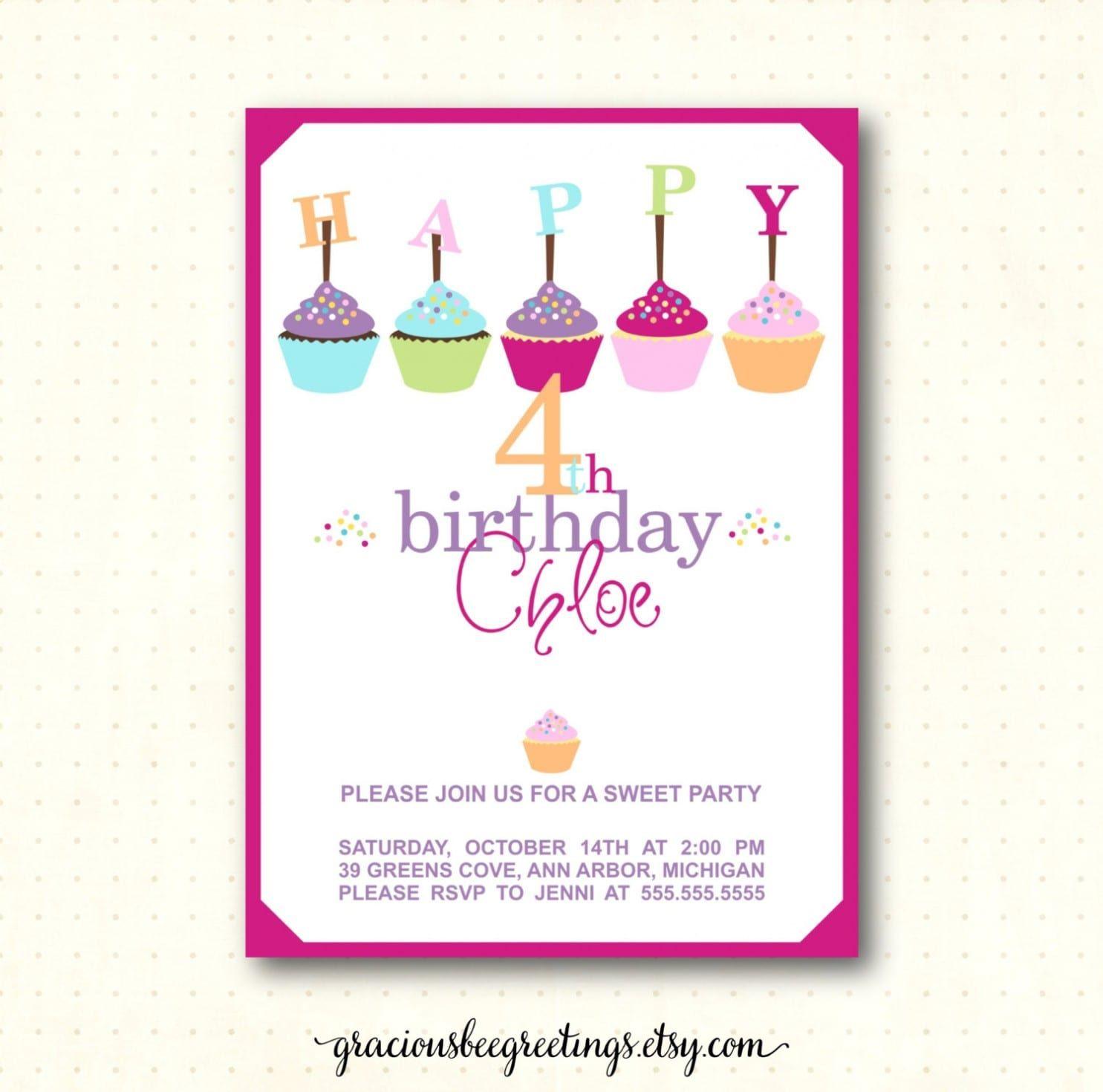 9th Birthday Party Invitation Wording