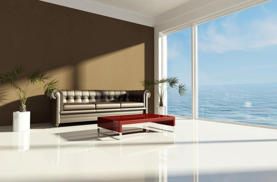 Sofa In Braun Wohnzimmer Mit Erdfarben Einrichten Interior
