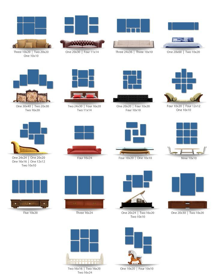 canvas print sizes guide - Google Search | Gallery Wall | Pinterest ...