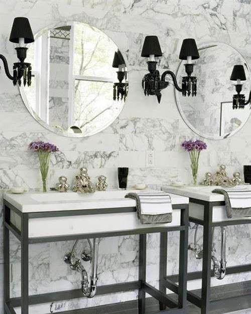 Arredamento in stile parigino - Un bagno elegante in stile francese ...